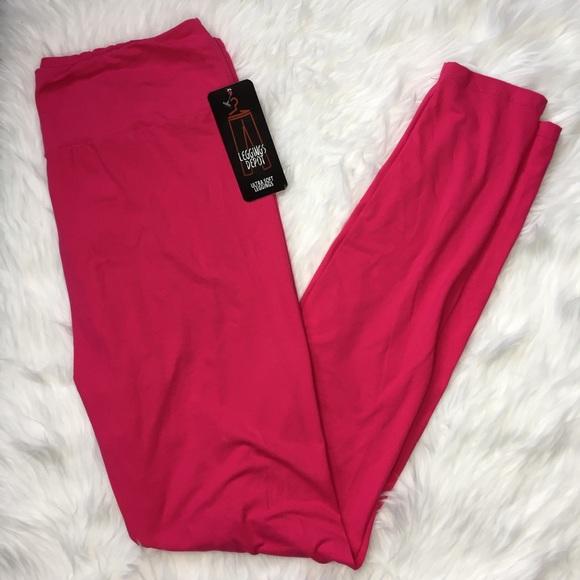 a122b546582f54 Leggings Depot Pants | Fuchsia Plus Size Leggings | Poshmark